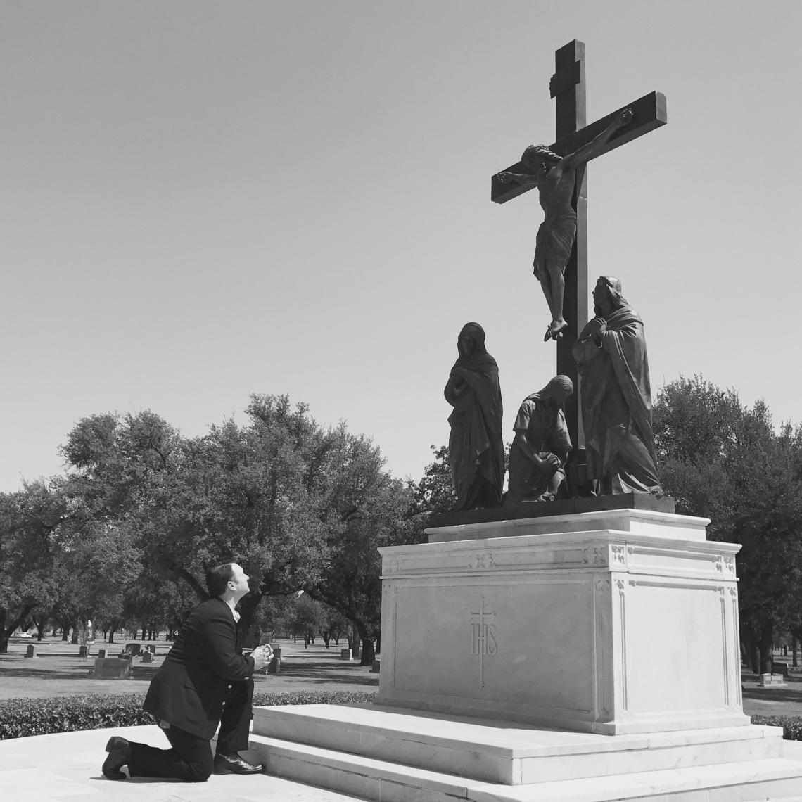 Kneel Crucifix